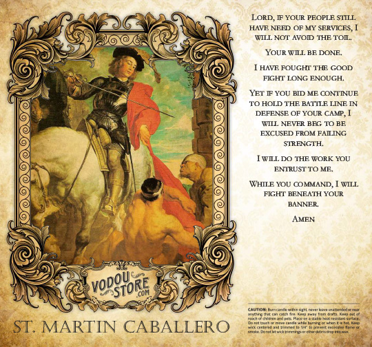7-Day Candle Label - St. Martin Caballero (St. Martin of Tours)